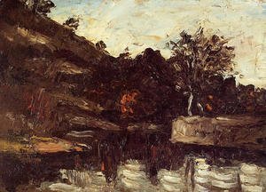 Paul Cezanne - A Bend in the River
