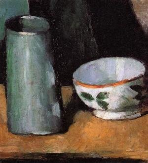 Paul Cezanne - Still Life, Bowl and Milk Jug