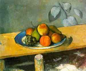 Paul Cezanne - Peaches, Pears and Grapes