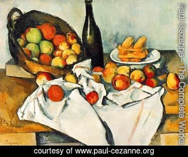Paul Cezanne - Still Life with Basket of Apples