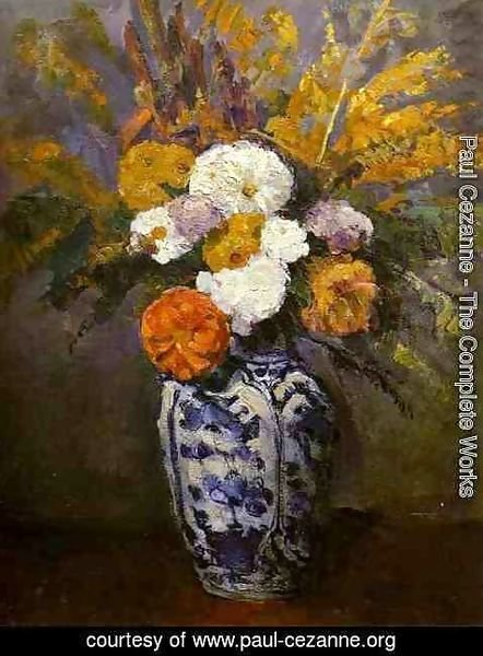 Paul Cezanne - Dahlias
