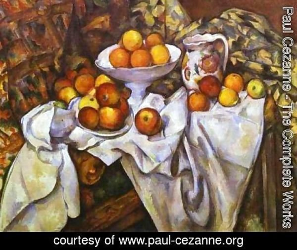 Paul Cezanne - Still Life with Fruit Basket