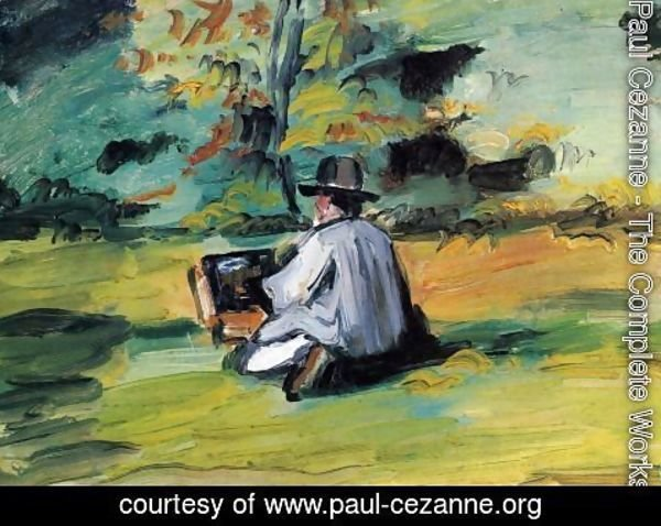 Paul Cezanne - A painter in the work