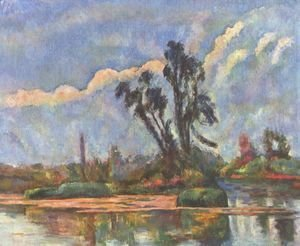 Paul Cezanne - Bank of the Oise
