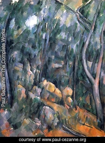 Paul Cezanne - Forest with the rock caves above the Château Noir