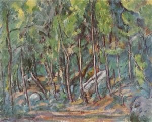Paul Cezanne - In the forest of Fontainebleau