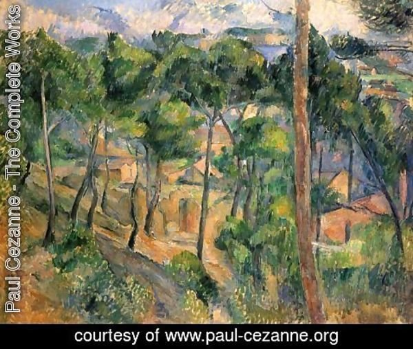 Paul Cezanne - L'Estaque, view by the Kiefern