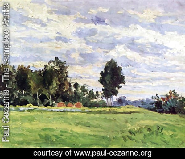 Paul Cezanne - Landscape at Ille de France