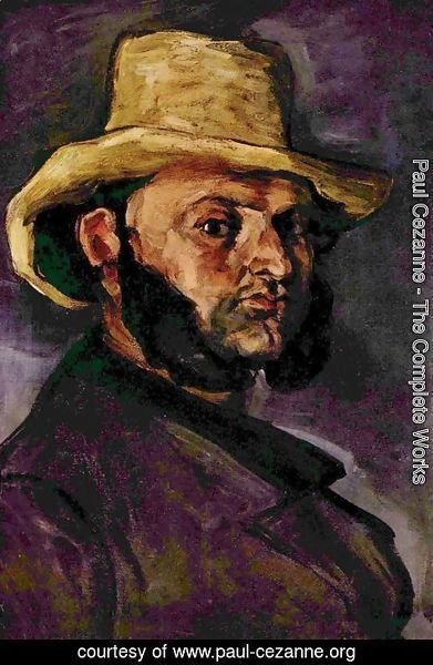 Paul Cezanne - Man with the strohhut
