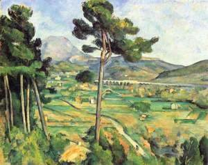 Paul Cezanne - Mount Sainte-Victoire as seen from Bellevue