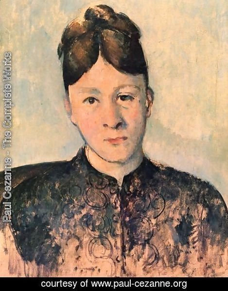 Paul Cezanne - Portrait of Mme Cézanne