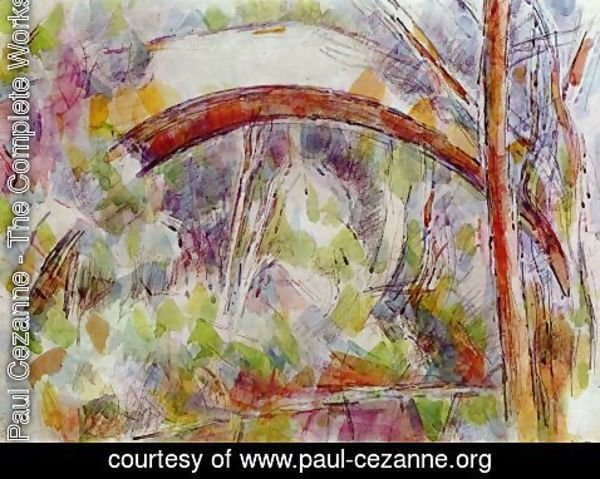 Paul Cezanne - River with the Bridge of the Three Sources