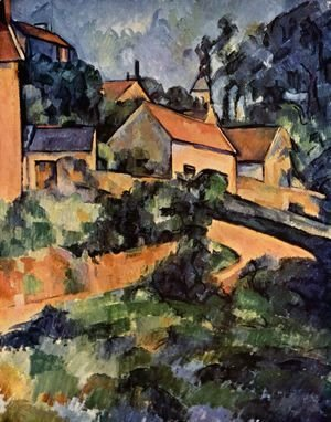 Paul Cezanne - Road curve in Montgeroult