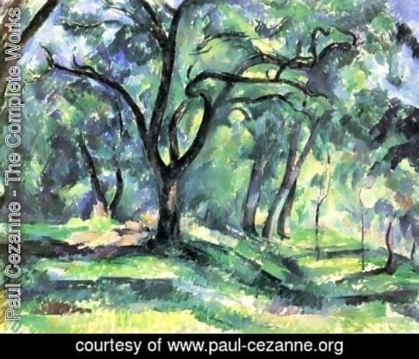 Paul Cezanne - Small forest