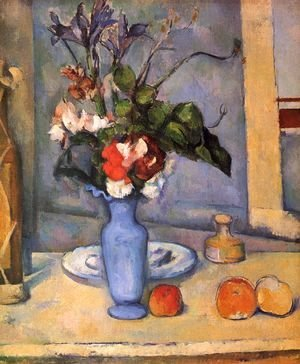 Paul Cezanne - Still life with a blue vase