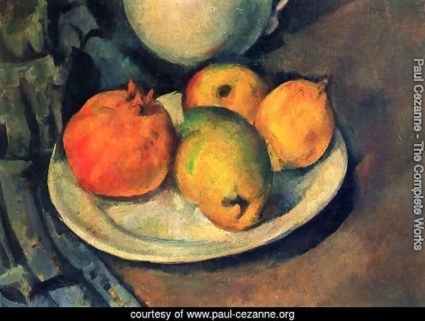 Still life with a magran and pears