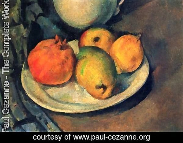 Paul Cezanne - Still life with a magran and pears