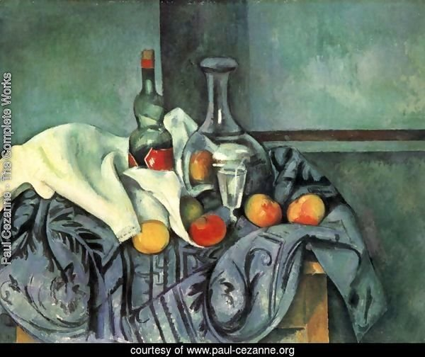 Still life with bottle and jug