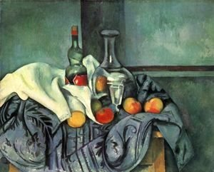 Paul Cezanne - Still life with bottle and jug