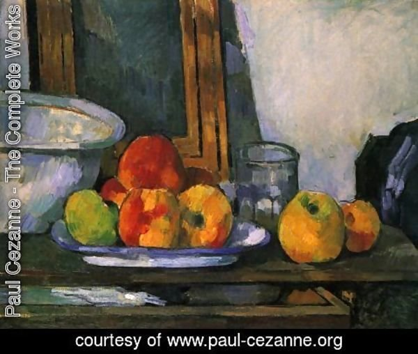 Paul Cezanne - Still life with open drawer