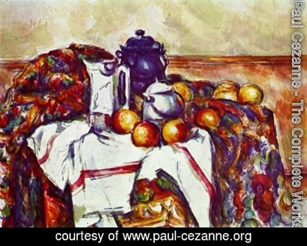 Paul Cezanne - Still life with oranges 2