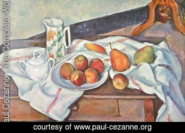 Paul Cezanne - Still life with peaches and pears