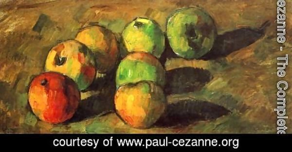 Paul Cezanne - Still life with seven apples