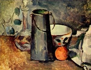 Paul Cezanne - Still life, a jar with an orange