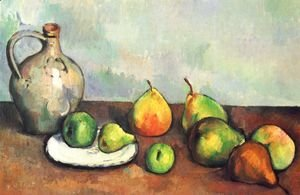Paul Cezanne - Still life, jug and fruits