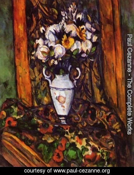Paul Cezanne - Still life, vase with flowers