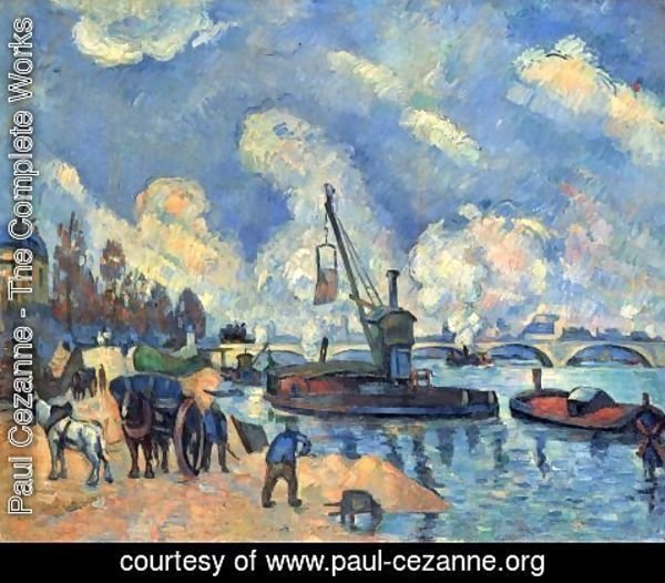 Paul Cezanne - The Seine with Bercy, painting after arm and Guillaumin