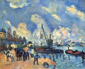 The Seine with Bercy, painting after arm and Guillaumin