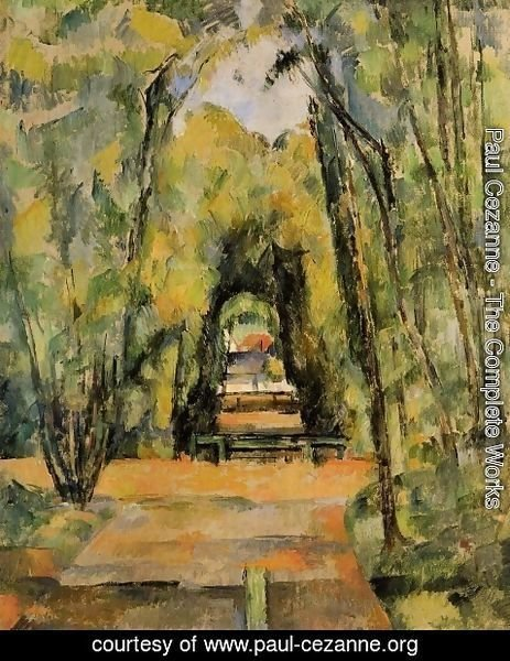 Paul Cezanne - Tree Lined Lane at Chantilly