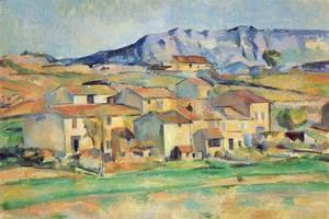 Paul Cezanne - Mont Sainte Victoire And Hamlet Near Gardanne 1886 90