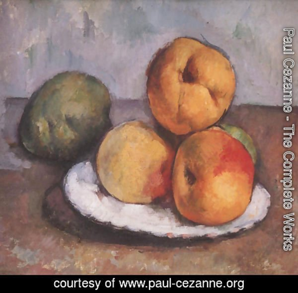 Paul Cezanne - Still Life With Quince Apples And Pears 1885 87