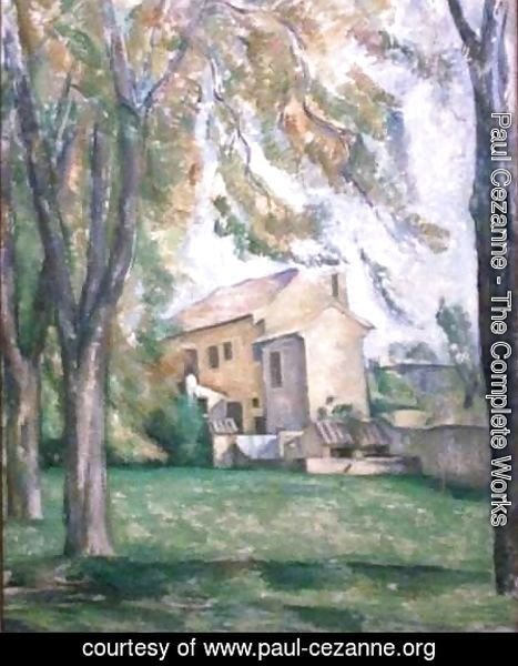 Paul Cezanne - Farmhouse and Chestnut Trees at Jas de Bouffan
