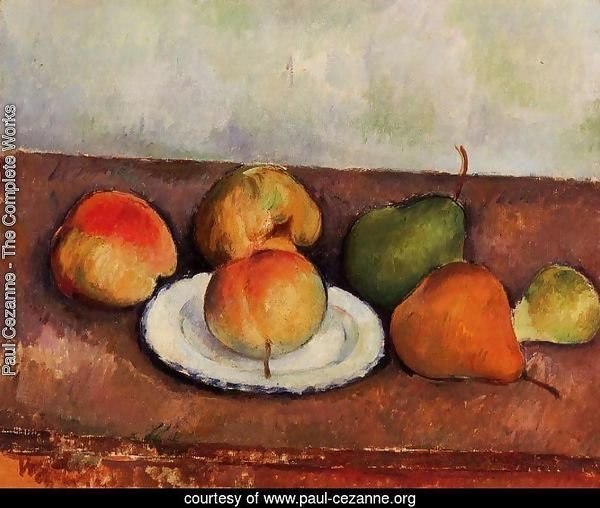 Still Life Plate and Fruit 1883 1887