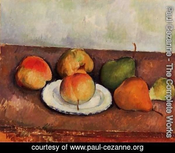 Paul Cezanne - Still Life Plate and Fruit 1883 1887