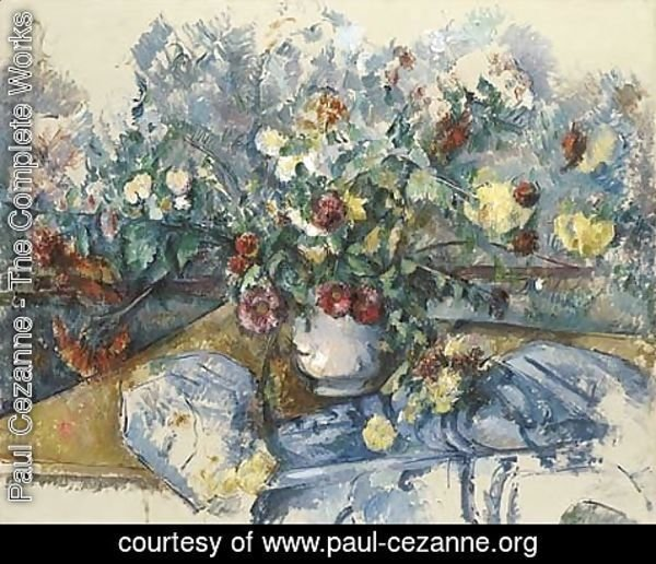Paul Cezanne - Grand bouquet de fleurs