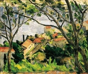 Paul Cezanne - L'Estaque vu a travers les arbres