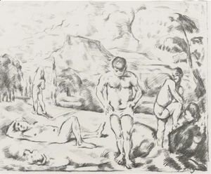 Paul Cezanne - The Large Bathers 2