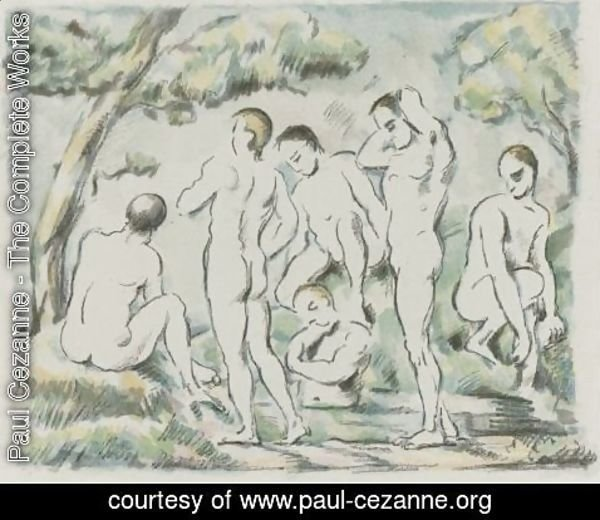 Paul Cezanne - The Small Bathers