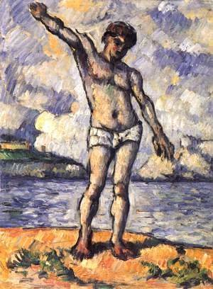 Paul Cezanne - Bather with outstretched arms