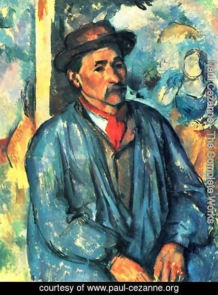 Paul Cezanne - Farmer in blue overalls