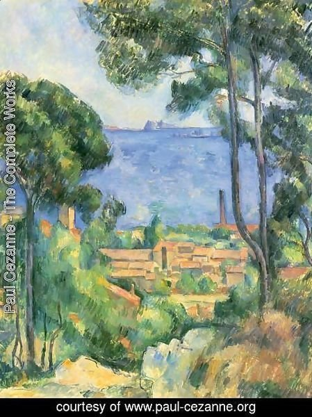 Paul Cezanne - View of L'Estaque and the Chateau d'If (The Sea at L'Estaque)