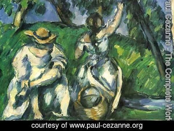 Paul Cezanne - The fruit pickers