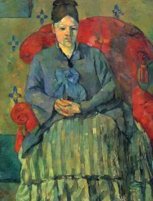 Portrait of Madame Cezanne in red chair