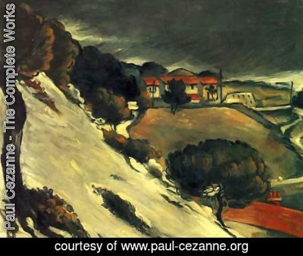 Paul Cezanne - Snow melt in L'Estaque