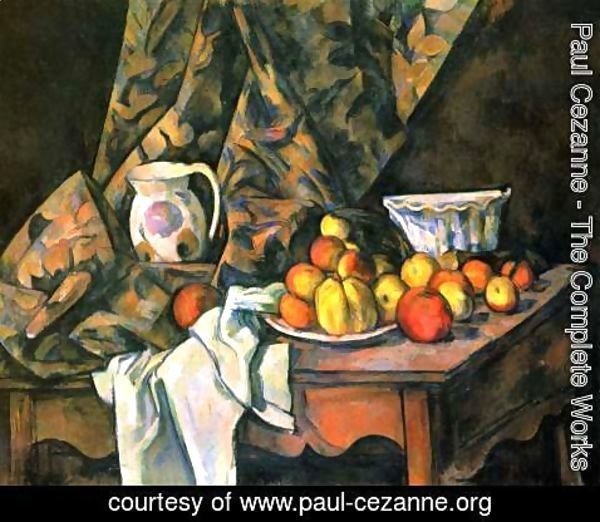 Paul Cezanne - Still life with apples and peaches