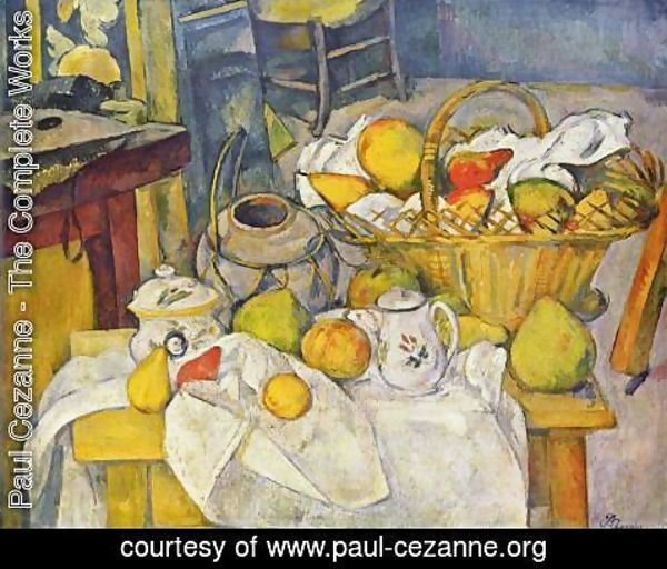Paul Cezanne - Still Life with Fruit Basket 2